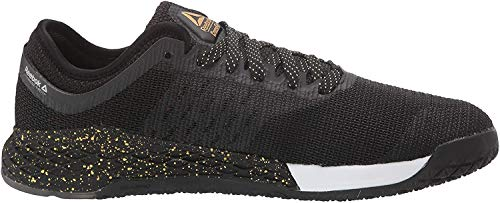 Reebok Men's Nano 9 Cross Trainer, Black/White/Gold, 11.5 M US