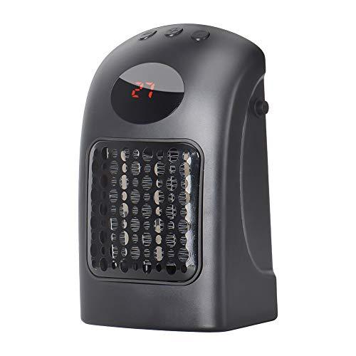 Heizlüfter, Queta Mini Steckdosen-Heizgeräte 900W Geräuschlos Heizleistung Wandauslass, Warmluftgebläse mit Thermostat und Timer für Zuhause, Badezimmer, Büro