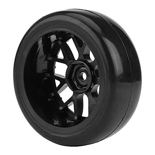 Wosune Neumáticos RC, RC Neumáticos de los Coches del Accesorio RC para los Coches en Carretera Que compiten con 1/10 RC(Black Wheels)