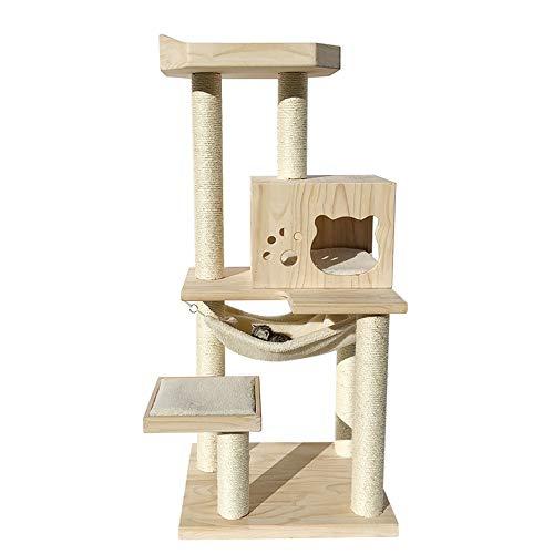 SuDeLLong Casa de Mascotas Gato de casa Torre árboles de Madera con...