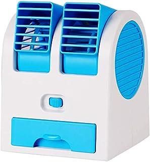 Mini portátil de aire acondicionado mini ventilador de la oficina de la cama de silencio residencia de estudiantes de circulación de aire,Blue