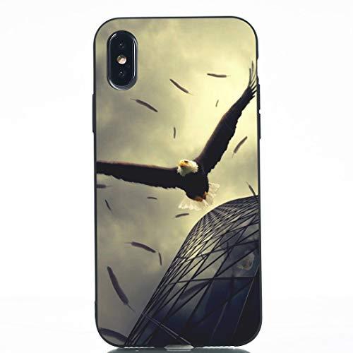 Wdckxy HNZZ - Funda protectora de TPU para iPhone X (color: el águila)