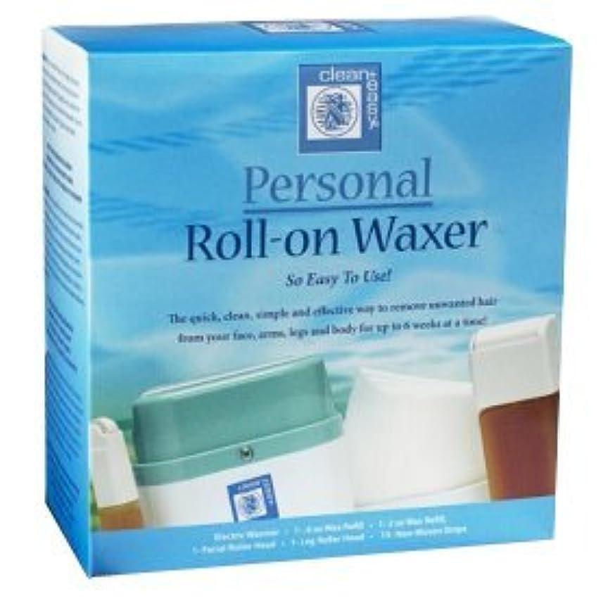 わかる列車ポークブラジリアンワックス 簡単ロールオンワックスキットClean & Easy Roll-on Wax Kit(アメリカより直送).