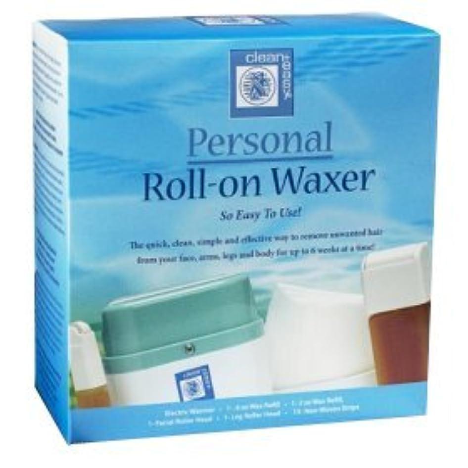 パズル最初に浸食ブラジリアンワックス 簡単ロールオンワックスキットClean & Easy Roll-on Wax Kit(アメリカより直送).