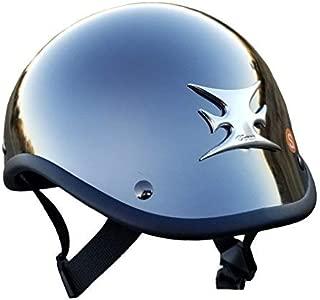 Chrome Gladiator Helmet with Iron cross/Maltese cross (small) (1)