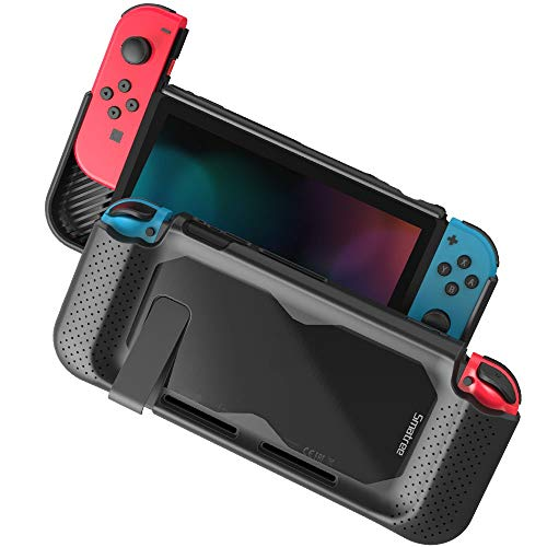 Smatree Hard Protective Case Compatible for Nintendo Switch-Comfort Handheld Back Cover for Nintendo Switch Console (Black)