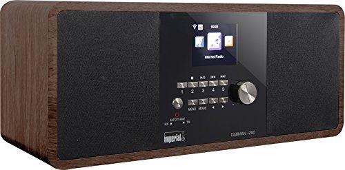 Imperial 22-280-00 Dabman i250 Internet-/DAB+ Radio (Stereo Sound,Bluetooth,Internet/DAB+/DAB/UKW,WLAN,LAN,USB,Aux In,Line-Out,Kopfhörer Ausgang,inkl. Netzteil) holzoptik-schwarz