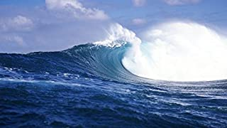 YYAYA.DS Rough waves sea Tahiti French Polynesia - Art Print Silk Fabric Cloth Wall Poster Print 28x16 Inches