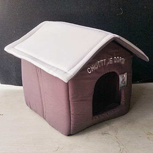 Hond Huis Kat Mat Verwijderbare Wasbare Mat Kattenbak Leuk Huis Kleine Middelgrote Hond Gaf Hondenbed Lui Dierenbed