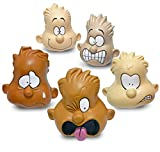 The Pencil Grip Feeling Heads, Soft Stress Ball with Emotion Faces, Opens Communications To Express Feelings, 5 Pack, Multi-Cultural Set (TPG-895)