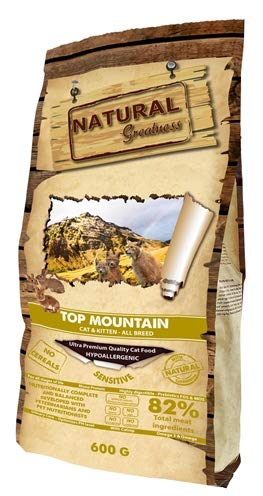 Natural Greatness Pienso seco para Gatos Receta Top Mountain - Ultra Premium - Cat & Kiiten - Todas Las Razas - 600 g
