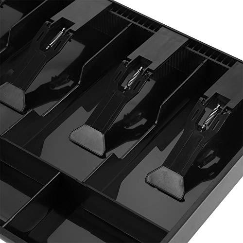 Caja registradora, bandeja de efectivo fácil de transportar para cajas de efectivo(black)