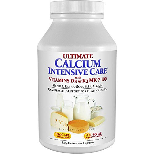Andrew Lessman Ultimate Calcium Intensive Care with Vitamins D3 & K2 MK-7 100-250 Capsules - Supports Skeletal Health. Ultra-Fine, Highly Absorbable Powder, Easy-to-Swallow Capsule. No Additives.