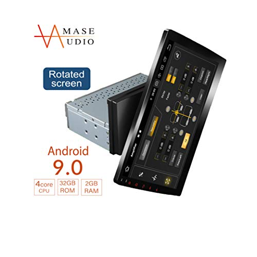 AMASE AUDIO Car Stereo, 10.1' Rotated Touchscreen, Universal 1 Din, Support Android Auto/GPS navigation/HD1080P/Fast Boot/Backup Camera/OBDII