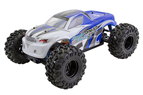 XciteRC 30331000 – Voiture RC one10 Monster Truck 4 WD Brushless, Bleu