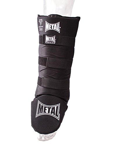 METAL BOXE MB219 - Espinilleras de Boxeo, Color Negro, Talla L