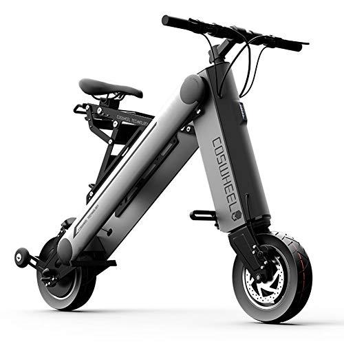 WM Urban Beach Cruiser 350w Mountain Bike 36v Commuter Adulte Pliant Portable Vélo Électrique Vélo Intégré Convient pour Hommes Et Femmes,Gris