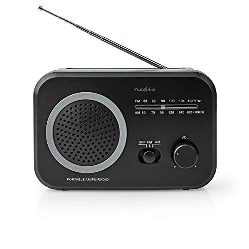 Nedis - Radio FM - Modelo portátil - Am/FM - Funciona con...