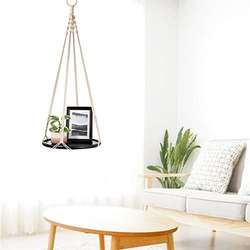 Fancylande hangmanden van massief hout, hangmanden voor zwemmende planken van touw, voor planten binnen en buiten