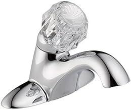 صنبور حمام Delta 502-DST كلاسيكي ذو مقبض واحد مركزي - أقل منبثقة، كروم