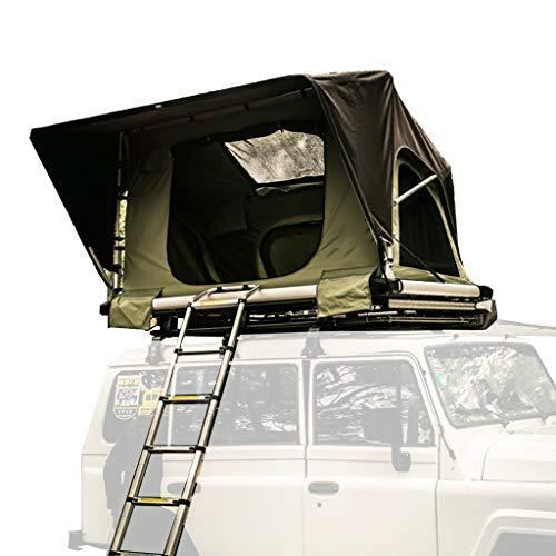 Vuurwolk Daktent Camping ABS Auto Tent, zachte Top Tent Een Slaapkamer Hydraulische Helikopter Met Aluminium Vouwladder