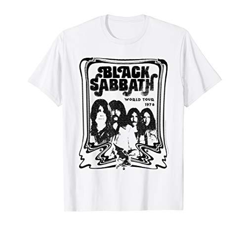Black Sabbath Official World Tour 78 B&W T-Shirt