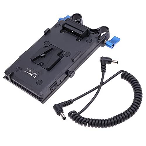 Hersmay V-Mount Batterieplatte V-Lock D-Tap-Platte Netzteil für DSLR-Kamera, Kameramonitor, Funkgeräte