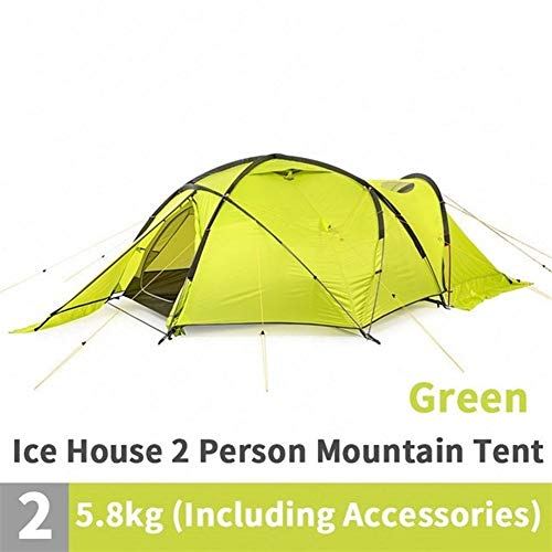Carpa de playa Tienda de campaña for 2 personas Ultralight 70D Nylon engrosamiento Carpa de Alta Montaña Campo de nieve Resistencia al viento para Camping, Pesca, Picnic ( Color : Green )