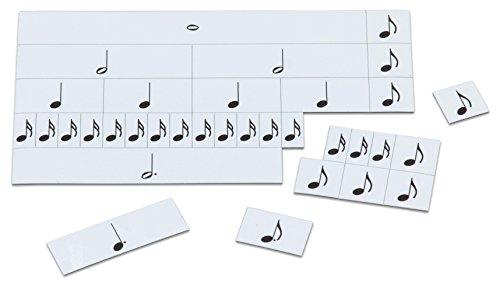 Betzold 84681 - Notenwert Legespiel - Musiknoten lesen lernen, magnetische Noten, Musikunterricht