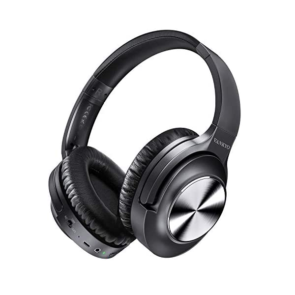 Active Noise Cancelling Headphones  Bluetooth Headphones Over Ear with Microphone Wireless Headset Hi-Fi Stereo Deep Bass  for Travel Work TV PC Cellphones 2