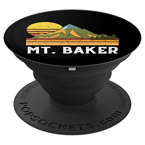 Mountain Vacation Gift- Mt. Climbing Hiking Mount Baker PopSockets Grip and Stand for Phones and Tablets
