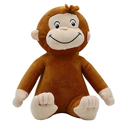 Curioso peluche George Peluche Monkey Peluche Animali di peluche Regali per ragazzi e ragazze 30 cm marrone