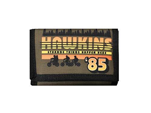 Portefeuille Stranger Things Vert Hawkins 85 Fermeture Velcro 13 x 9 cm