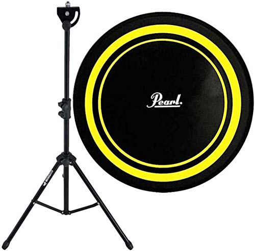 "Pearl PDR-08P Practice Drum Pad Gelb/Schwarz Übungspad 8"" + keepdrum DPS Stativ Übungspadständer"