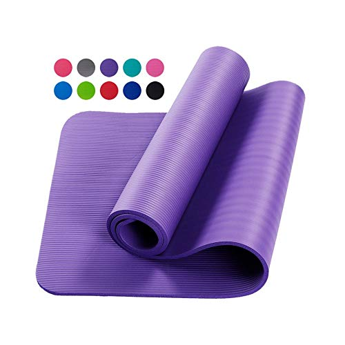 #N/D Alta elasticidad Yoga Mat NBR material alargado y engrosado práctico Yoga Mat con correas