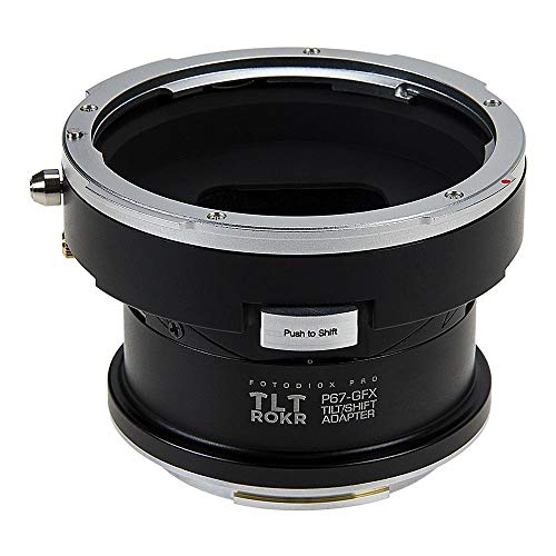 Fotodiox Pro TLT ROKR - Tilt/Shift Lens Mount Adapter Compatible with Pentax 6x7 (P67, PK67) Mount Lenses to Fuji G-Mount GFX Mirrorless Camera Body