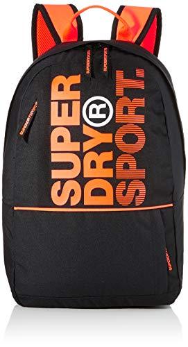 Superdry Herren Sport Backpack Rucksack, Schwarz (Black), 28x20x46 cm