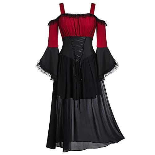 Vestido Novia Disfraz niña Disfraces Medievales Mujer Vestido gotico Mujer Vestido Blanco...