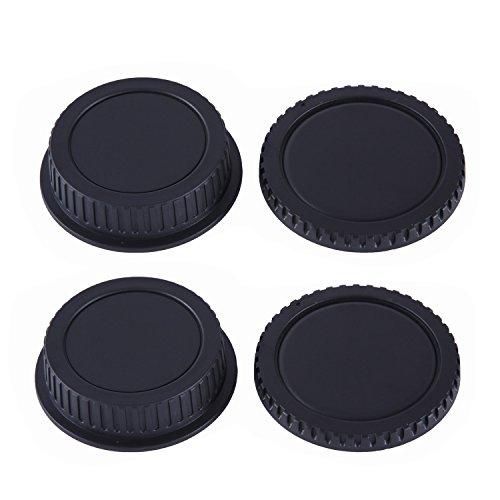 Movo Photo Lenskappe für Objektiv und Kameraöffnung für Canon EOS DSLR Kamera