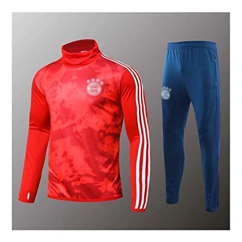 Big25cm Go! Fußballplatz!e Super European Football!Männer Fußball Langarm Fußball-Rot Training Trikots Fußball-Training Uniformen bas0298 (Color : Red, Size : XL)
