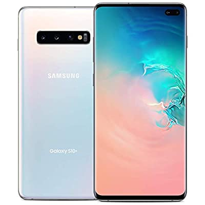 Samsung Galaxy S10+ Plus G975F GSM Unlocked Smartphone (Renewed) (Prism White, 128GB)