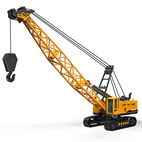 Cobefy Crane Toy Vehicle Construction Trucks, Diecast Construction Vehicles for Kids Sandbox Car Toy for Boy, Gift for Kids Children Toddlers Age 3 4 5 6 Year Old