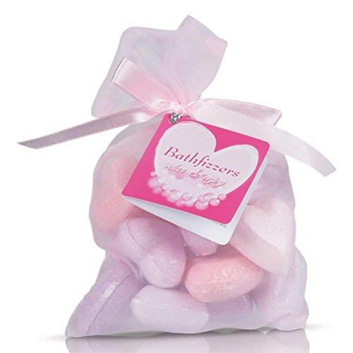 2 x 10 cœurs perles de bain dans des sacs en tissu avec des rubans
