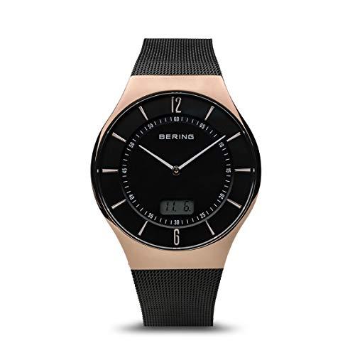 BERING Herren Analog Quarz Uhr mit Edelstahl Armband 51640-166