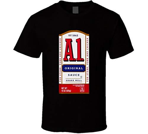 N/Y - Camiseta para disfraz de salsa de carne, color negro Negro Negro ( L