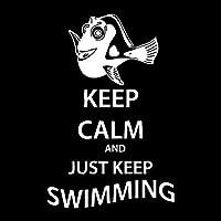 ステッカー剥がし 11.5cm * 17.6cmの車のステッカー漫画の魚は落ち着いたばかりの水泳ビニールデカールブラック/シルバー ステッカー剥がし (Color Name : Silver)