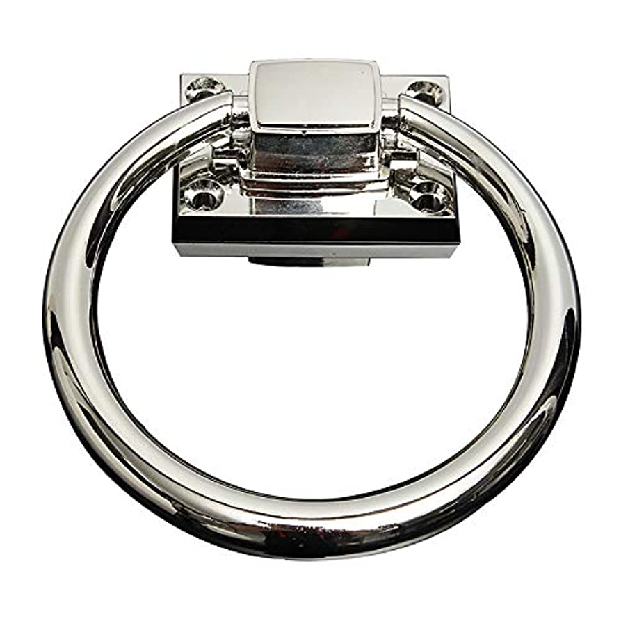 厳しいズームスタイルDC ノッカー ステンレス ドアノッカー ドアベル ハンドルプルリング ドア用品 シルバー