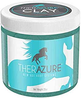 Therazure Hoof Thrush Treatment Clay for Horses: Effective On White Line Disease- Also for Cows, Sheep, Goats, Other Hoofed Animals- 20 oz Jar