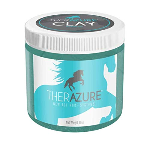 Therazure Hoof Thrush Treatment Clay for Horses: Effective On White Line Disease- Also for Cows, Sheep, Goats, & Other Hoofed Animals- 20 oz Jar
