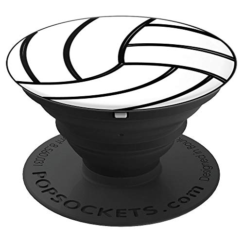 Volleyball White PopSockets Grip and Stand for Phones and Tablets